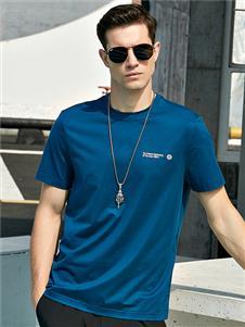 法拉狄奥2020新款蓝色T恤