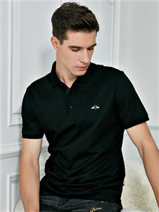 法拉狄奧2020黑色polo衫