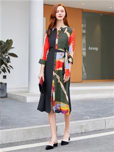 音菲梵女裝新款印花裙