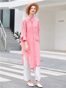 音菲梵女裝時尚長款襯衫