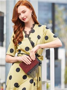 音菲梵女裝新款波點連衣裙