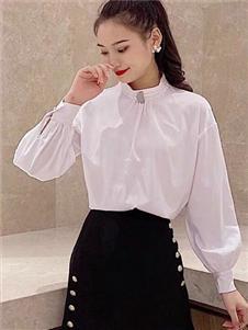雨珊女装新款白色衬衫