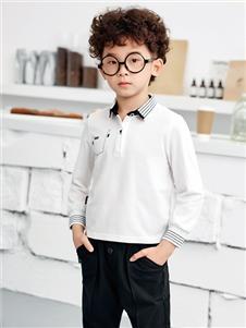JOJO潮牌童装男童时尚翻领上衣
