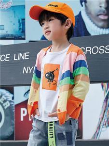 JOJO潮牌男童时尚针织外套