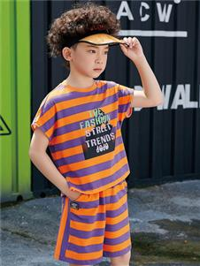 JOJO潮牌童裝條紋T恤