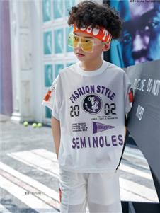 JOJO童裝新款印花T恤