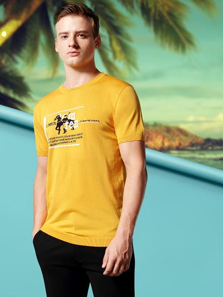 劳夫罗伦男装黄色T恤