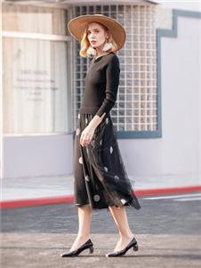 布根香女装波点半裙