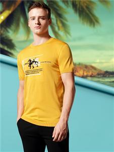 勞夫羅倫男裝黃色T恤