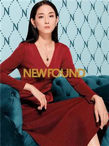 纽方新款红色连衣裙