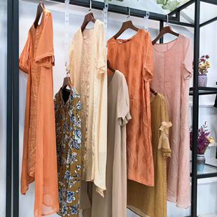 今渡20夏装连衣裙实体网络直播货源品牌女装折扣批发