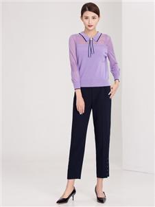 迪丝爱尔女装紫色时尚上衣