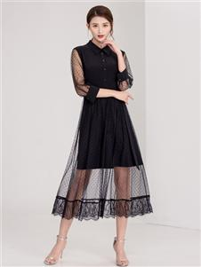 迪丝爱尔女装迪丝爱尔女装黑色连衣裙