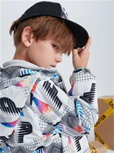 青蛙王子男童2020新款印花夹克