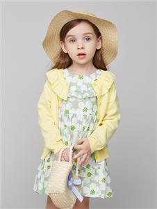 青蛙王子女童时尚两件套