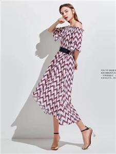 衣魅人2020夏优雅连衣裙