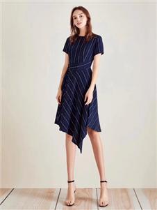 衣魅人2020條紋連衣裙