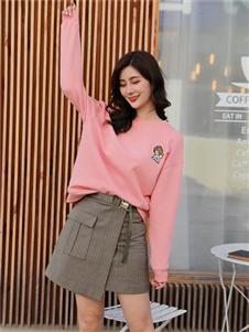 季候風女裝粉色衛衣