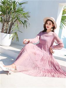 衣艾女装粉色连衣裙