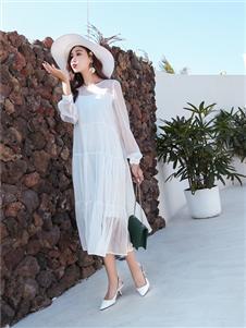 衣艾女装白色仙女裙
