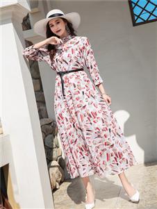 衣艾女装印花裙