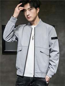 太子龙男装太子龙男装2020新款灰色夹克