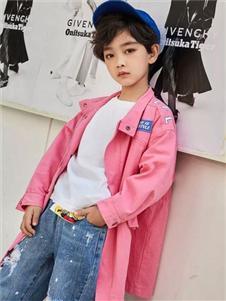 啦芙莱粉色衬衫外套