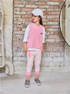 啦芙莱粉色运动服