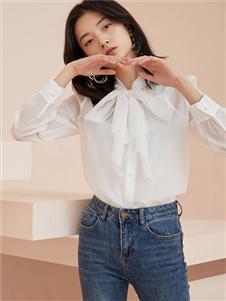 爱客白色衬衫
