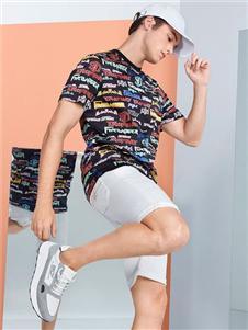 柒牌男装柒牌印花T恤