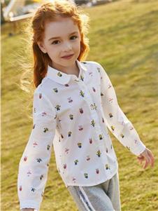小豬班納女童小黃人系列襯衫