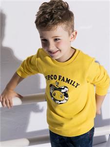 小豬班納童裝黃色衛衣