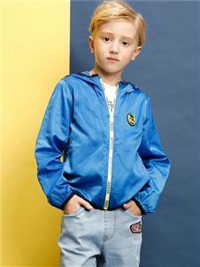 小猪班纳童装蓝色夹克