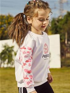 小猪班纳女大童时尚拼接卫衣