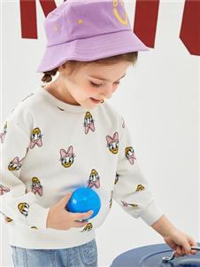 迪士尼宝宝女童时尚卫衣