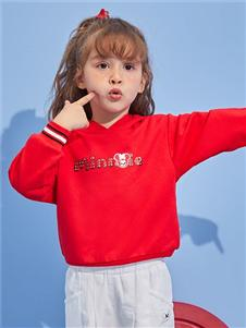迪士尼宝宝女童红色卫衣