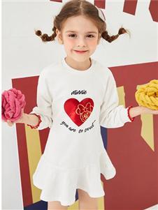 迪士尼宝宝女童白色卫衣裙