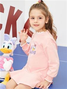 迪士尼宝宝女童粉色卫衣裙