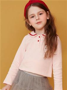 迪士尼宝宝女童春新款粉色可爱上衣
