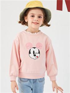 迪士尼宝宝女小童粉色卫衣