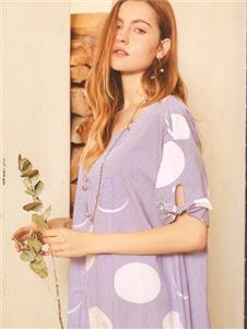 卡熙名品紫色宽松上衣