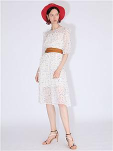 betu百图白色连衣裙