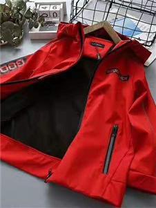 喜洋洋童装红色夹克