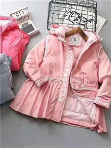 喜洋洋女童粉色羽绒服