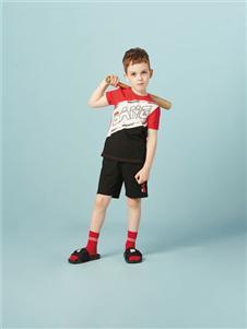 水孩儿男童夏运力量动套装