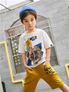 拉斐贝贝黄色短裤
