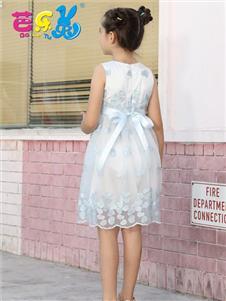 芭乐兔女童夏时尚连衣裙