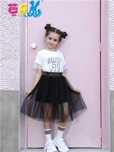 芭樂兔女童夏新款套裝裙