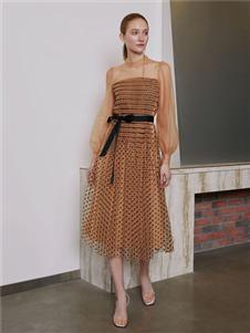 奧倫提2020時尚拼接連衣裙