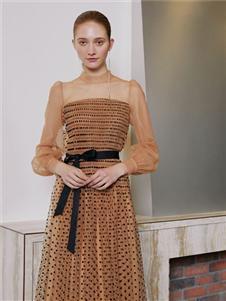奧倫提女裝2020拼接連衣裙